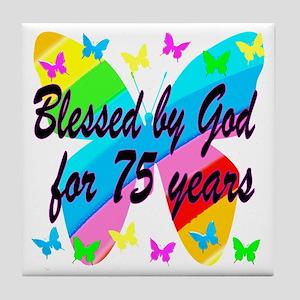 75TH PRAYER Tile Coaster