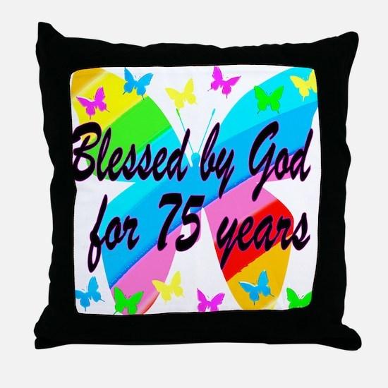 75TH PRAYER Throw Pillow