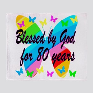 80TH BLESSING Throw Blanket