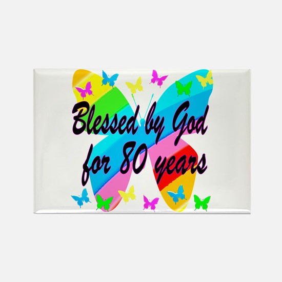 80TH BLESSING Rectangle Magnet (10 pack)