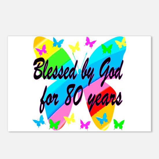 80TH BLESSING Postcards (Package of 8)