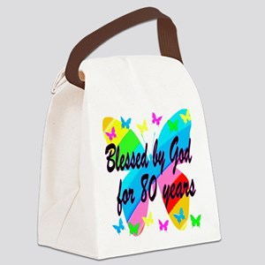 80TH BLESSING Canvas Lunch Bag