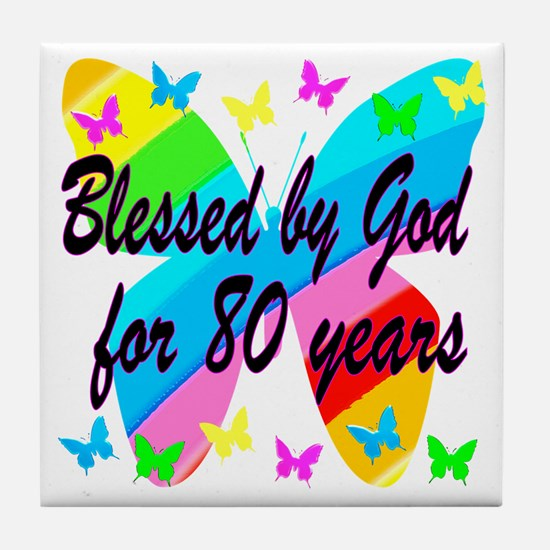 80TH BLESSING Tile Coaster