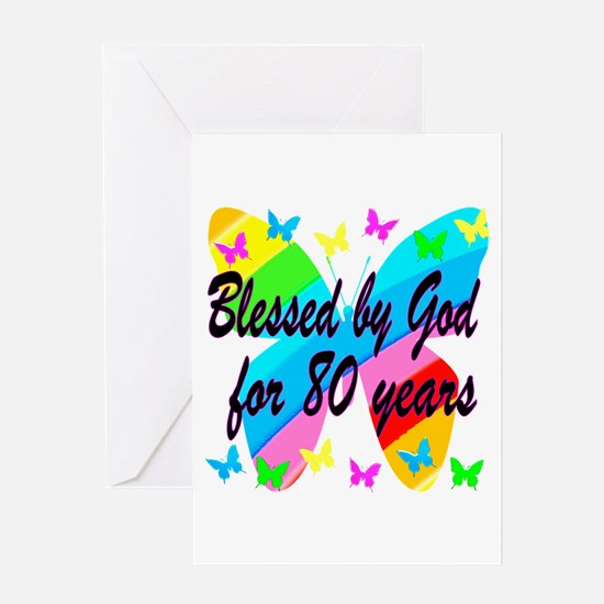 80TH BLESSING Greeting Card