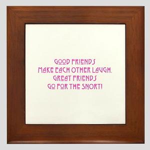 Great Friends - Snort Framed Tile