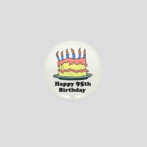 Happy 95th Birthday Mini Button