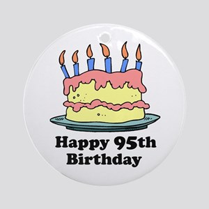 Happy 95th Birthday Ornament (Round)