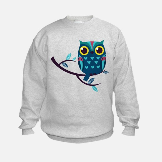 Dark Teal Owl Sweatshirt