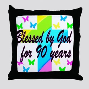 90TH PRAYER Throw Pillow