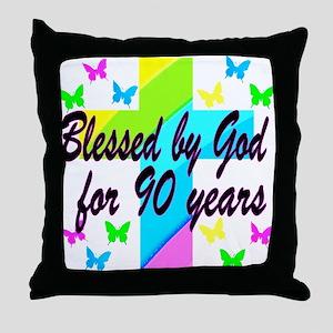 90TH PRAYER Throw Pillow