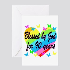 90TH PRAYER Greeting Card