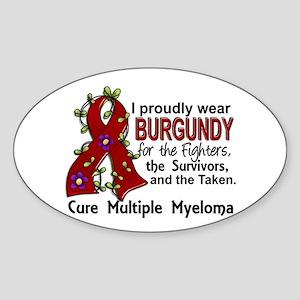 For Fighters Survivors Taken Multip Sticker (Oval)