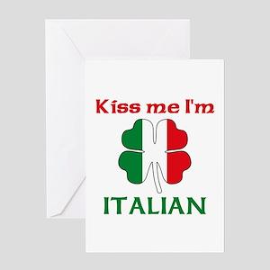 Italian kiss greeting cards cafepress kiss me im italian greeting card m4hsunfo