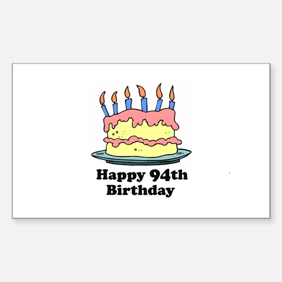 Happy 94th Birthday Rectangle Decal