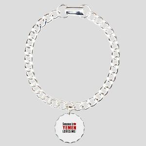 Someone In Yemen Loves M Charm Bracelet, One Charm
