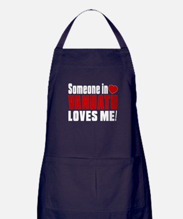 Someone In Vanuatu Loves Me Apron (dark)