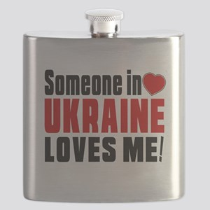 Someone In Ukraine Loves Me Flask