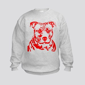 PIT BULL HEAD RED Sweatshirt