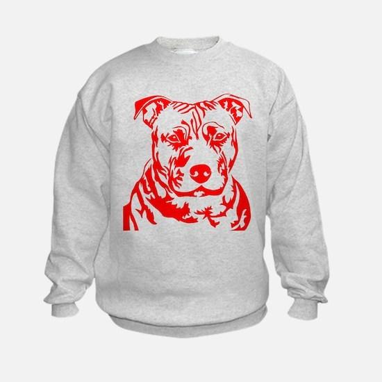 PIT BULL HEAD RED Sweatshirt