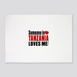 Someone In Tanzania Loves Me 5'x7'Area Rug