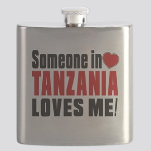 Someone In Tanzania Loves Me Flask