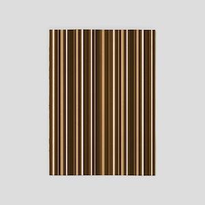 Brown Stripes 5'x7'Area Rug