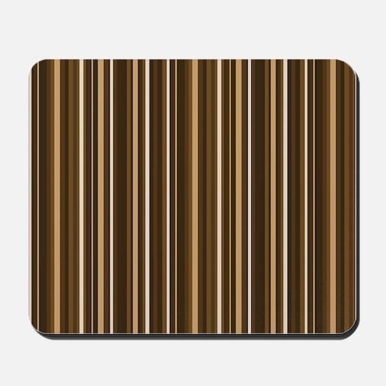 Brown Stripes Mousepad