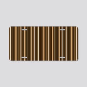 Brown Stripes Aluminum License Plate