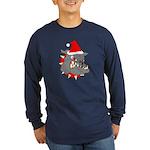 Christmas Devil Dog Long Sleeve Dark T-Shirt