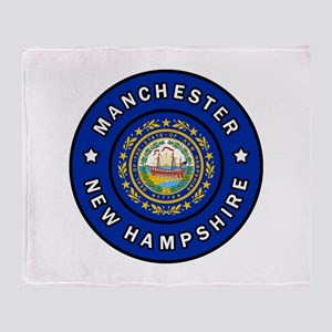 Manchester New Hampshire Throw Blanket