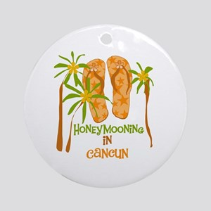 Honeymoon Cancun Ornament (Round)
