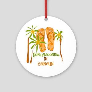 Honeymoon Cancun Ornament (Round)