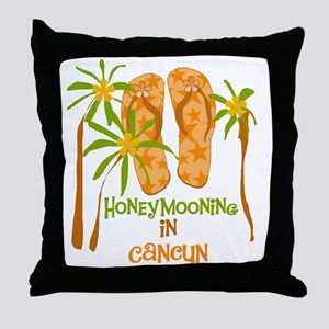 Honeymoon Cancun Throw Pillow