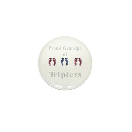 Proud Grandpa of Triplets Mini Button (10 pack)