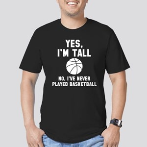 Yes, I'm Tall Men's Fitted T-Shirt (dark)