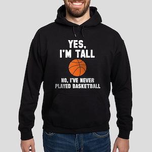 Yes, I'm Tall Hoodie (dark)