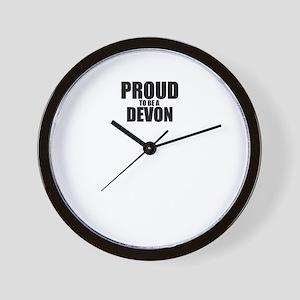 Proud to be DEVON Wall Clock