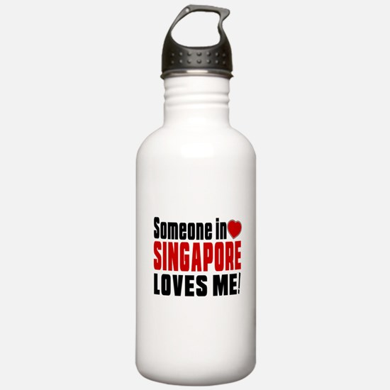 Someone In Singapore L Water Bottle