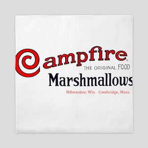 Campfire Marshmallows vintage logo Queen Duvet