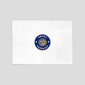 Omaha Nebraska 5'x7'Area Rug