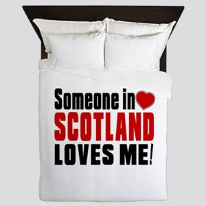 Someone In Scotland Arabia Loves Me Queen Duvet