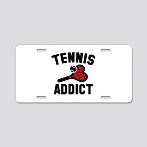 Tennis Addict Aluminum License Plate
