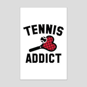 Tennis Addict Mini Poster Print