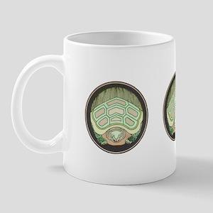 Green Turtle Hiding Mug