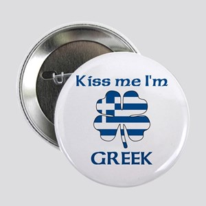 "Kiss Me I'm Greek 2.25"" Button (10 pack)"