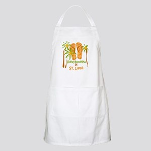 Honeymoon St. Lucia BBQ Apron