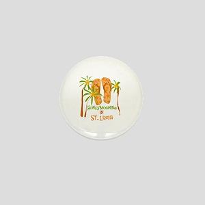 Honeymoon St. Lucia Mini Button