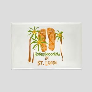 Honeymoon St. Lucia Rectangle Magnet