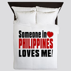 Someone In Philippines Loves Me Queen Duvet