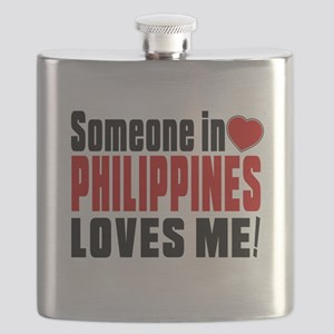 Someone In Philippines Loves Me Flask